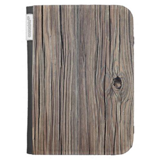 Weathered Wood Background - Customized Kindle Keyboard Case