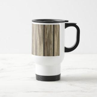 Weathered Wood Board Pattern Coffee Mugs