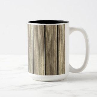 Weathered Wood Board Pattern Coffee Mug