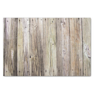 Weathered Wood Boards from an Old Country Dock Tissue Paper