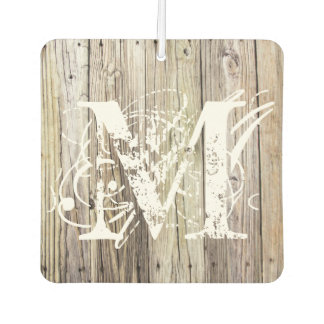 Weathered Wood Boards Monogrammed Air Freshener