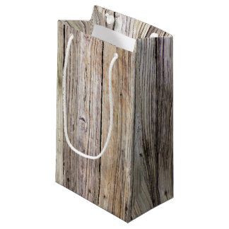 Weathered Wood Boards Small Gift Bag