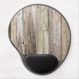 Weathered Wood Boards with Rustic Patina Gel Mouse Pad