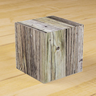 Weathered Wood Boards with Rustic Patina Party Favour Boxes