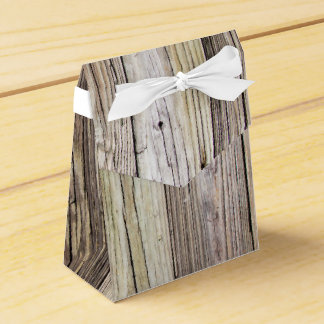 Weathered Wood Boards with Rustic Patina Wedding Favour Boxes