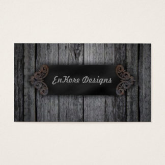 Weathered Wood Business Card
