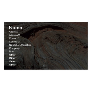 Weathered wood business cards