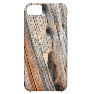 Weathered wood iPhone 5C case