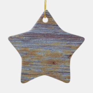 Weathered Wood Ceramic Star Decoration