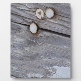 Weathered Wood Display Plaques