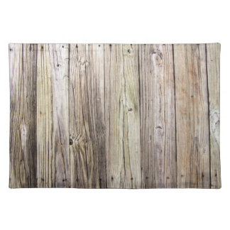Weathered Wood dock Boards Cloth Placemats