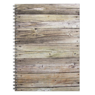 Weathered Wood Dock Boards Notebook