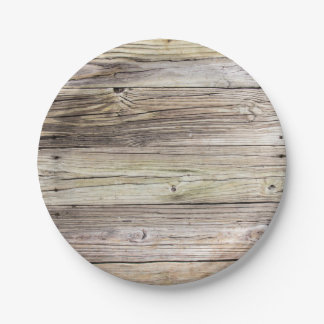 Weathered Wood Dock Boards Paper Plates 7 Inch Paper Plate