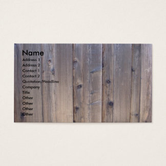 Weathered Wood Fence Business Card