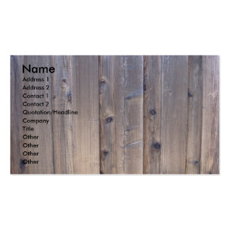 Weathered Wood Fence Business Card Template