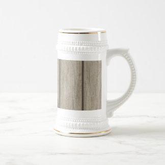 Weathered Wood Grain Pattern Coffee Mug