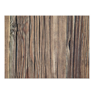 Weathered Wood Grain Plank Background Template 17 Cm X 22 Cm Invitation Card