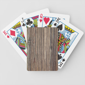Weathered Wood Grain Plank Background Template Bicycle Playing Cards