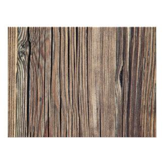 Weathered Wood Grain Plank Background Template Custom Invitations