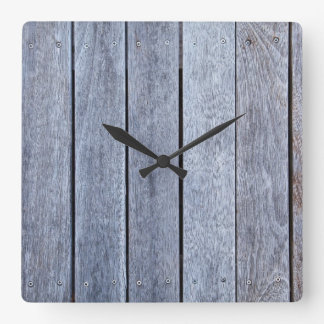 Weathered Wood Grain Plank Background Template Wall Clock