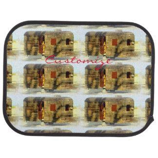 weathered wood gypsy caravan car mat