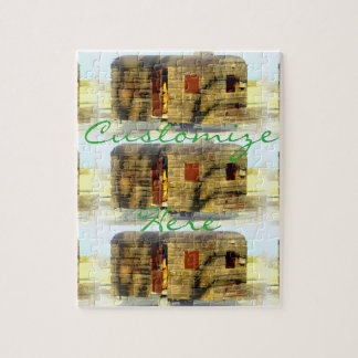 Weathered wood gypsy caravan jigsaw puzzle