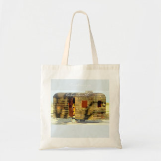 Weathered wood gypsy caravan Thunder_Cove Tote Bag