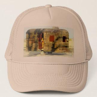 Weathered wood gypsy caravan trucker hat