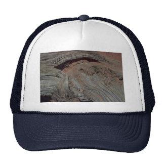 Weathered wood trucker hat