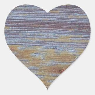 Weathered Wood Heart Sticker