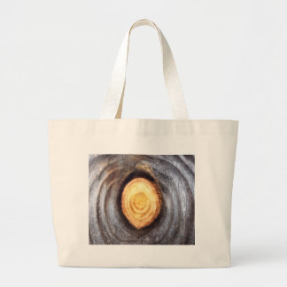 Weathered Wood Knot Tote Bag