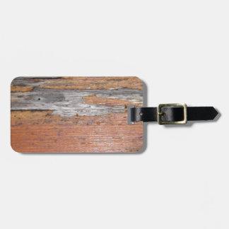 Weathered wood bag tags