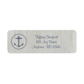 Weathered Wood Nautical | Personalized Return Address Label