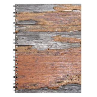 Weathered wood spiral note book