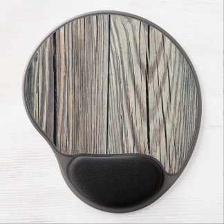 Weathered Wood Plank w Grain Background Template Gel Mouse Pad