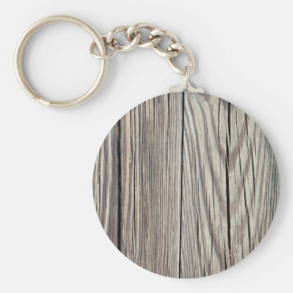 Weathered Wood Plank w Grain Background Template Key Ring
