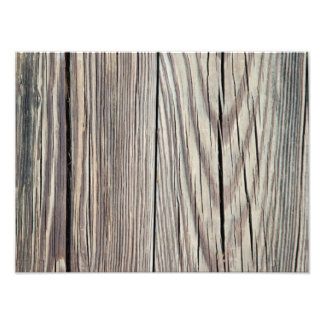 Weathered Wood Plank w Grain Background Template Art Photo