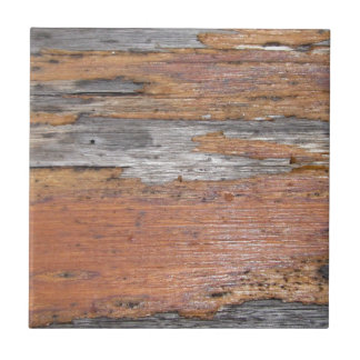 Weathered wood small square tile