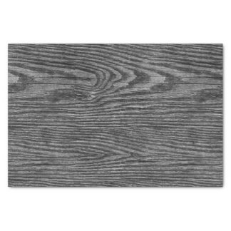 Weathered Wood Texture Charcoal Color Tissue Paper