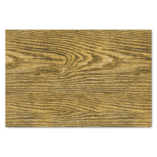 Weathered Wood Texture Honey Tissue Paper