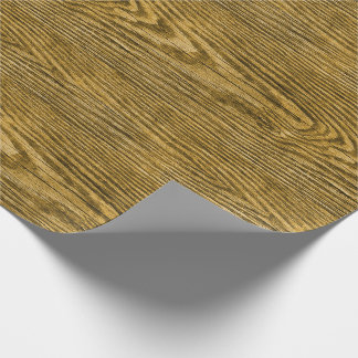 Weathered Wood Texture Honey Wrapping Paper