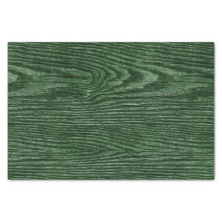 Weathered Wood Texture Hunter green Tissue Paper