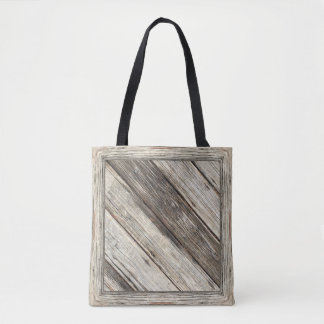 """Weathered Wood"" v2 Tote Bag: Choose Size"