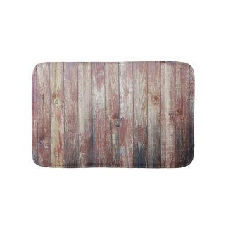Weathered Wood Wall Texture Bath Mats