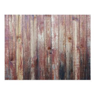 Weathered Wood Wall Texture Postcard