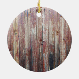 Weathered Wood Wall Texture Round Ceramic Decoration