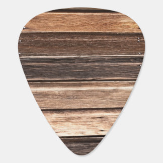 Weathered Wood with Many Shades of Brown Guitar Pick