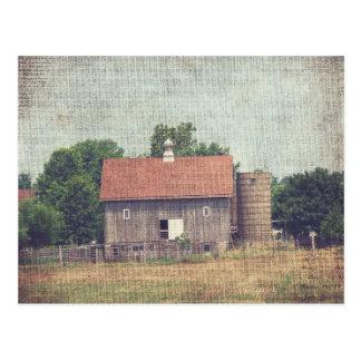Weathered Wooden Barn Postcard