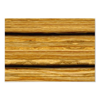 "weathered wooden boards texture 3.5"" x 5"" invitation card"