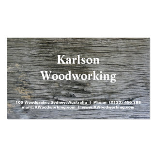 Weathered Wooden Texture Business Cards